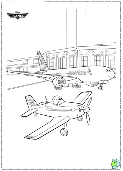 planes movie pages coloring pages