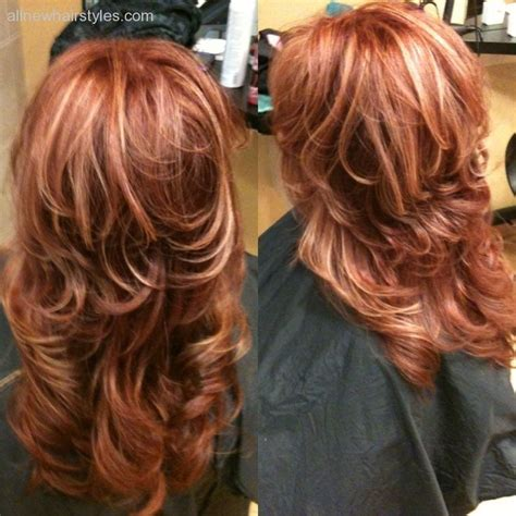 blonde and copper hairstyles copper red hair with blonde highlights beauty gallery