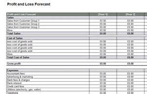 profit and loss forecast template profit and loss template vlashed
