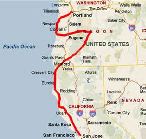 portland california map san fransisco to portland its happening living room