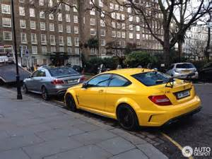 yellow mercedes c63 amg black series from qatar the