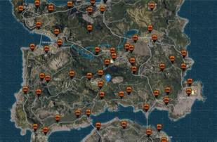 pubg map detailed pubgs loot maps cars locations weapons spawns