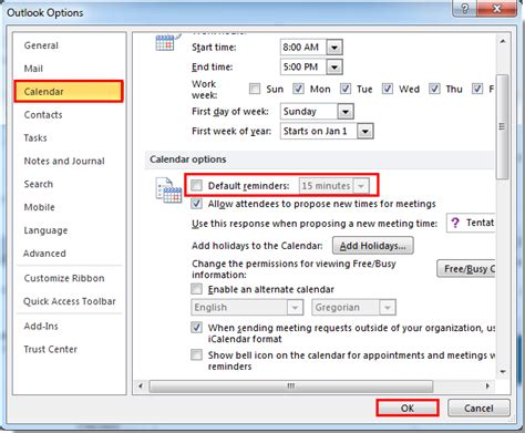 Calendar Notifications How To Disable Calendar Notification In Outlook