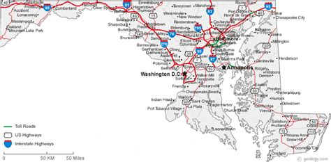 printable road map of delaware map of maryland cities maryland road map