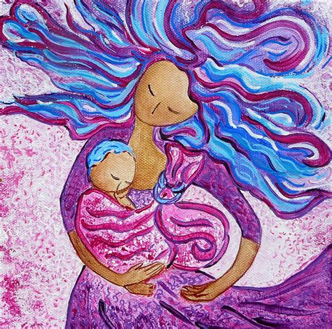 Curtain Dancing Sling Dance Motherhood Babywearing Dance Artwork Painting