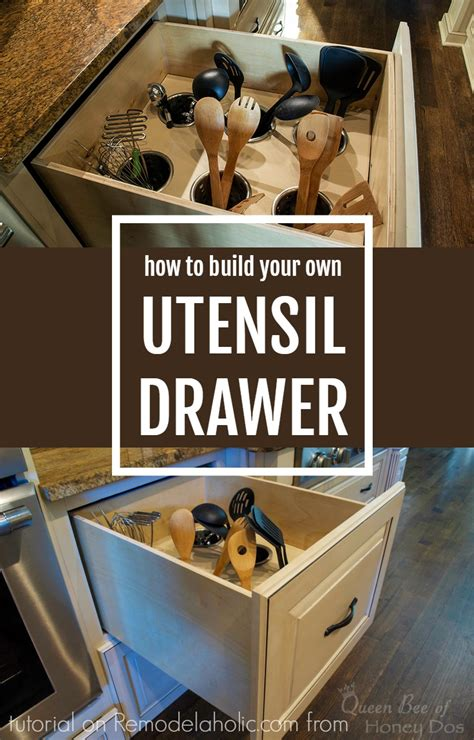how to build drawers remodelaholic diy upright utensil organizer