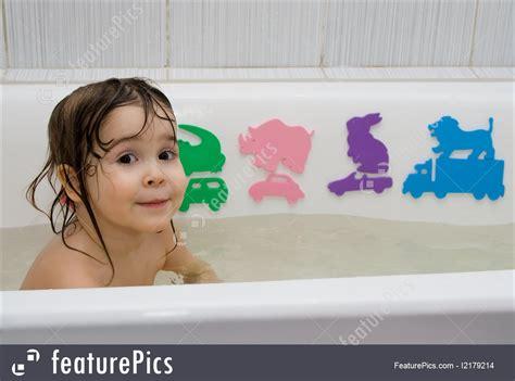 little bathtub little girl take a bath image