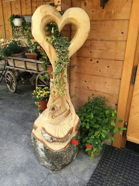 kerze wand holzherz eingang inspiration wood carving