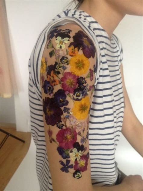 colored flower tattoos 51 marvelous vintage shoulder flower tattoos