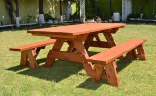 wood picnic table and benches 187 plansdownload