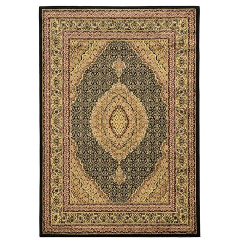 linon home decor rugs linon home decor elegance mahi black 5 ft x 7 ft area