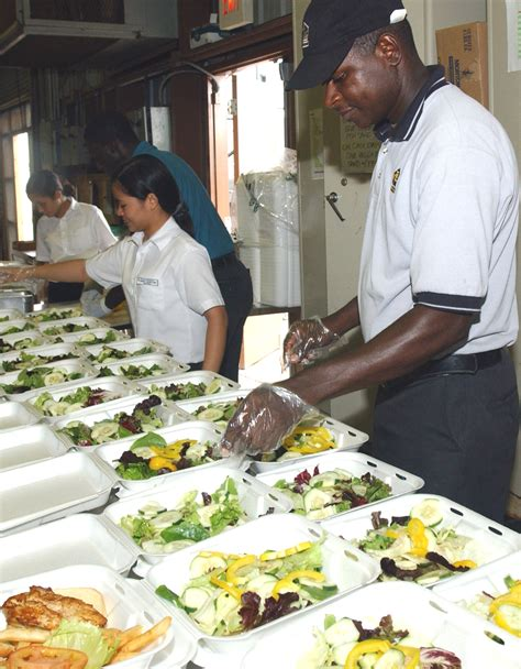 file contracted food service workers prepare meals for detainees at the u s detention facility