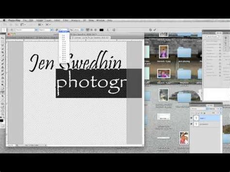 photoshop tutorial watermark logo how to make a simple watermark logo in photoshop cc cs6
