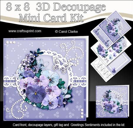 3d Decoupage Picture Kits - 8x8 flowers a touch of elegance mini kit 3d