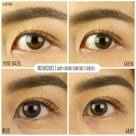 define tow colored colored contacts impressions air optix freshlooks