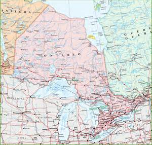 canada map ontario cities map of ontario with cities and towns