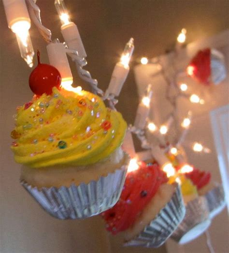 191 Best Images About Fake Cupcakes On Pinterest Shabby Cupcake String Lights