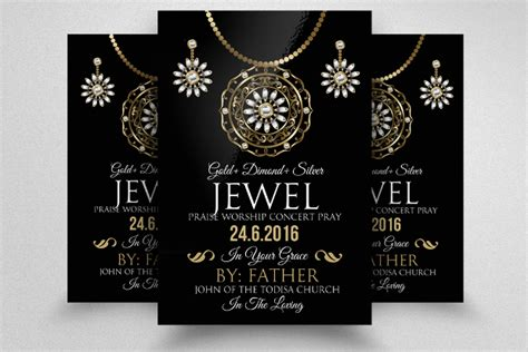flyer design for jewellery 20 jewelry flyer templates printable psd ai vector