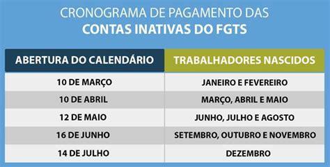 Calendario Cartao Cidadao 2015 Calend 225 Fgts 2017 Saque Fgts Tabela De Saque