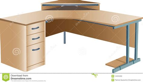 Angled Computer Desk Angled Corner Office Desk Stock Vector Image Of Surface 14161233