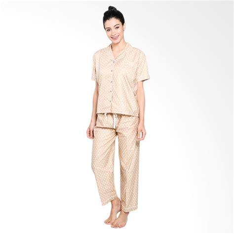 Piyama Baju Tidur Celana Panjang Lengan Pendek 3 5 Warna jual setelan polkadot piyama baju tidur wanita harga kualitas terjamin