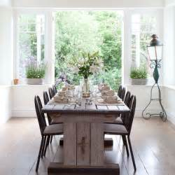 Vintage Dining Room White Dining Room With Rustic Table French Vintage