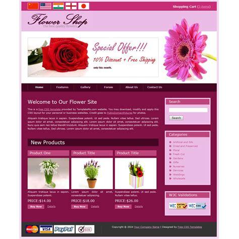 shop templates template 076 flower shop