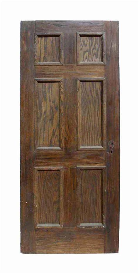 Six Panel Exterior Wood Doors Antique Six Panel Oak Wooden Door Olde Things