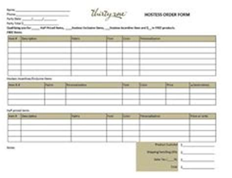 printable order form for thirty one 1000 images about thirty one business enhancers on