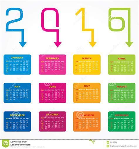 calendar new design vector creative new year 2016 calendar design stock vector