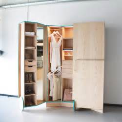 Cleverly designed walk in closet showcasing practicability and style