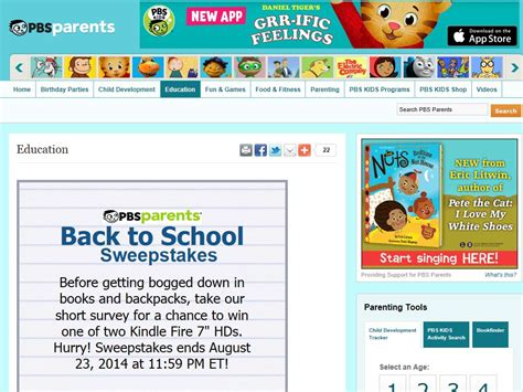 Pbs Org Sweepstakes - pbs parents back to school sweepstakes