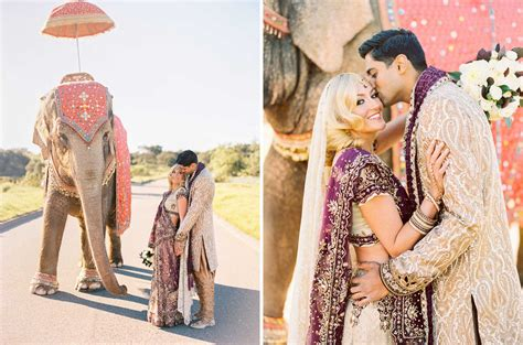 Indian Wedding by Bright Colorful Indian American Wedding