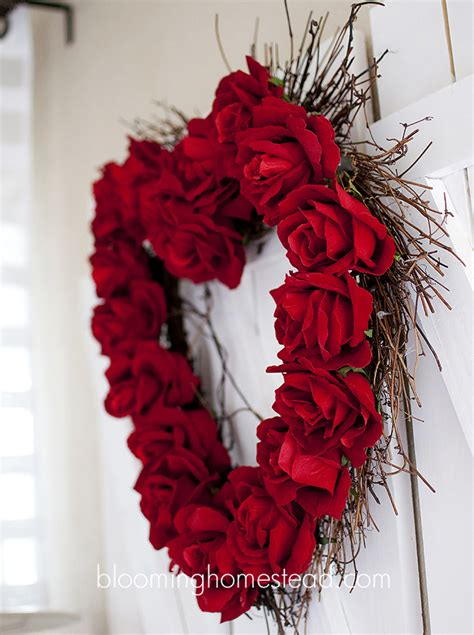 valentines day wreath wreath diy blooming homestead