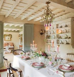 Table Top Decor by French Country Cottage With Christmas Decor Home Bunch