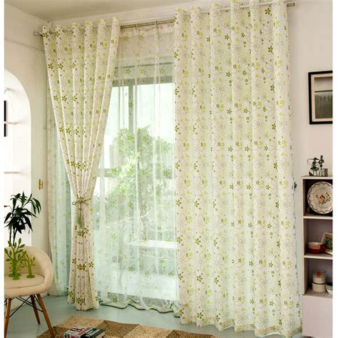 Light Green Curtains Decor Neat Light Green Country Floral Window Curtains Light Green Curtains In Home Design Style