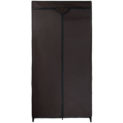 Single Fabric Wardrobe by Single Canvas Fabric Wardrobe Klaus 75x50x160 Cm Hanging
