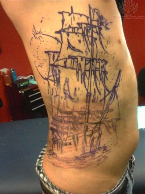 pirates tattoo large pirate ship