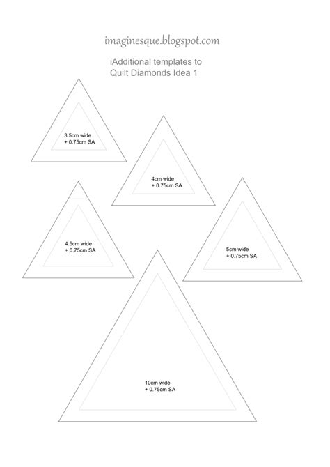quilting templates free imaginesque quilt diamonds templates