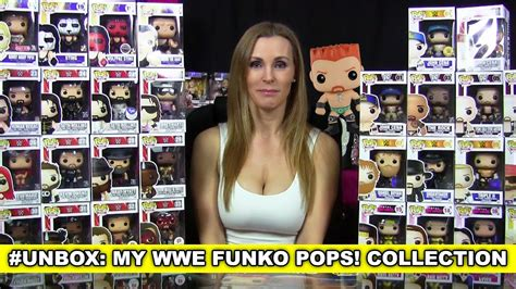 trish stratus funko pop haul unboxing the entire wwe funko pop vinyl collection