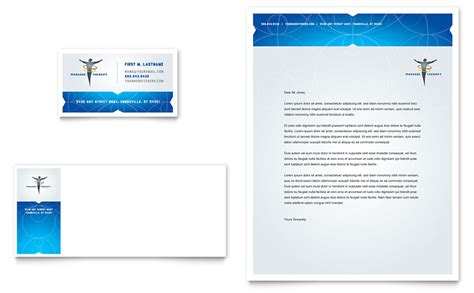 Free Health Care Business Card Templates by Reflexology Business Card Letterhead Template