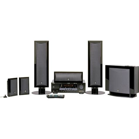 yamaha yht 780bl 5 1 channel home theater system yht 780bl b h