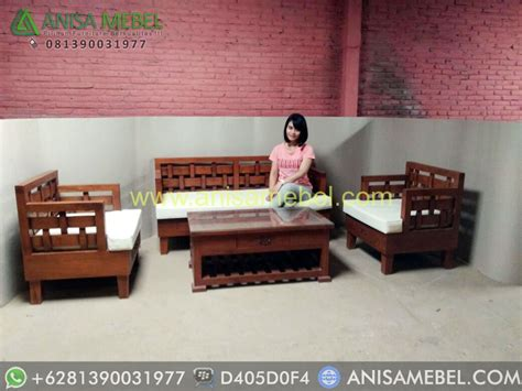 Kursi Tamu Tangerang set kursi tamu jati minimalis model kepang set kursi