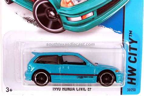 Hotwheels Honda Civic Ef Us Card hobbydb