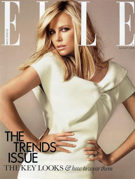 Is Elles September 2008 Cover by Charlize Theron Uk August 2008 Stylefrizz