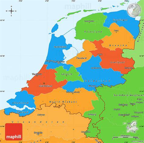 netherlands counties map niederlande politische karte