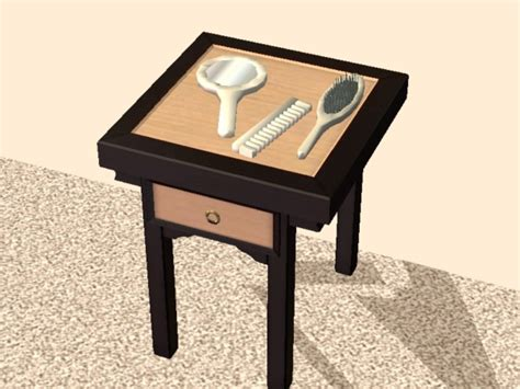 Fashioned Vanity Sets by Mod The Sims New Mesh Fashioned Vanity Brush Comb