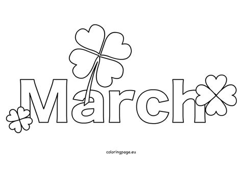 March Coloring Pages Free Month March Coloring Page by March Coloring Pages