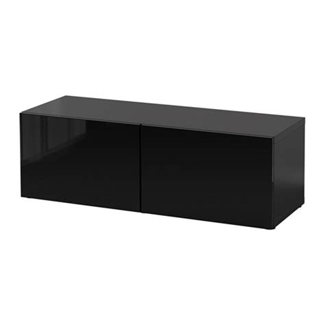 best 197 shelf unit with doors black brown selsviken high - Besta Verbinden