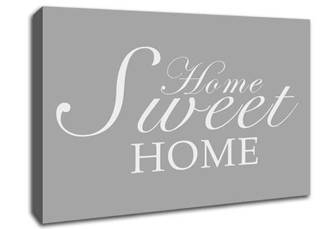 home sweet home grey white text quotes canvas stretched canvas